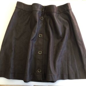 Michael Kors Size 10 Brown Faux Suede Mini Skirt